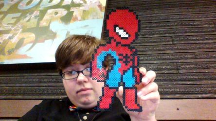 spiderman pixel for Lenny my date by HerHeartCrafts