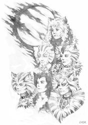 Cats under Jellicle moon by Candra