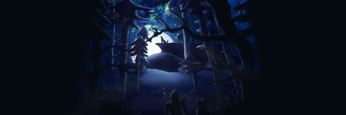 Landscape - wolf howl forest by Arcaste
