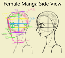 Female Manga Side View by graphicgirl12345
