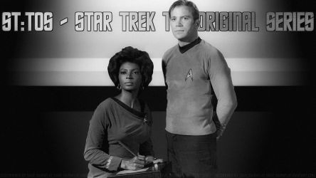 William Shatner + Nichelle Nichol Kirk and Uhura by Dave-Daring