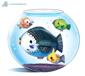 Daily Paint #1039. Parrot Fish by Cryptid-Creations
