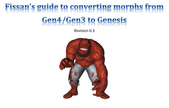 Fissans Guide to Converting Morphs to Genesis by cgartiste