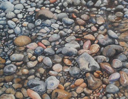 Rocks and pebbles by aakritiarts