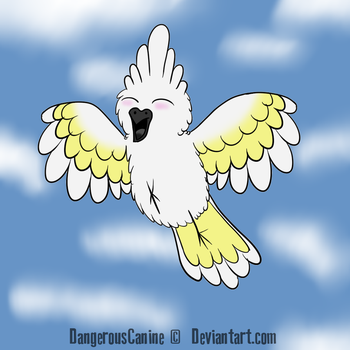 Cockatoo in the clouds by DangerousCanine
