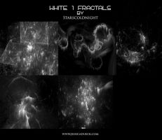 WHITE FRACTALS 1 by starscoldnight by StarsColdNight