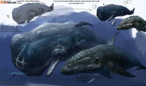 Whale Painting by DongjunLu