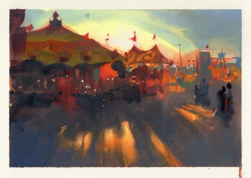 County Fair! by NathanFowkesArt