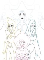 Diamond Authority Color Lineart by EmilyCammisa
