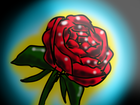 Rose( drawn while actually holding a real rose) by Double-Bound