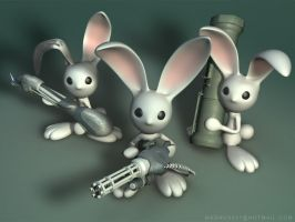 Armed Bunnies by evilhomer145