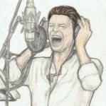 David Bowie 2013 recording a song by gagambo