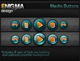 Glass Media Buttons by Enigma-Design