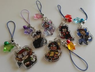 Voltron: Legendary Defender Charms by SollinFaolan
