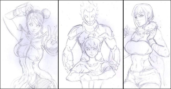 3 requests gif ... Sketch by Julio-Leo