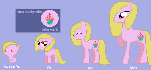 Candy Cake: From Filly To Mare by theshadowpony357