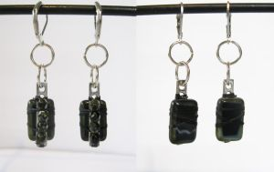 Darkness Deep in the Cave - Beaded Earrings by DanielleDucrest