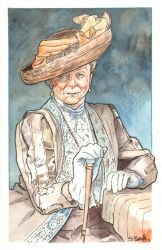 Downton Abbey Countess Grantham Watercolor... by ssava