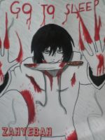 Jeff the killer- Behind the window by Zahyebah