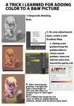Greyscale to color mini tutorial by RaikohIllust