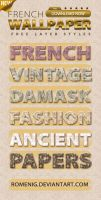 French Wallpaper Layer Styles by Romenig