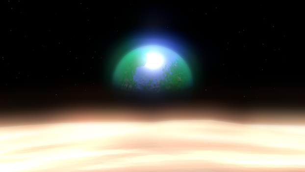 3D art test (space) by KingSlime001