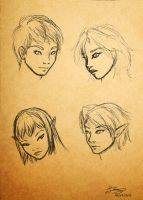 Lineage of Elysium - Face sketches by nime080