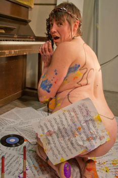 Mixed Media Nude-Music 04 by pHotOPuNK82