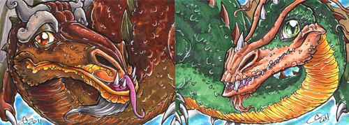 ATC_ACEO Smrgol and Gorbash by BHS-ArchetypeRex
