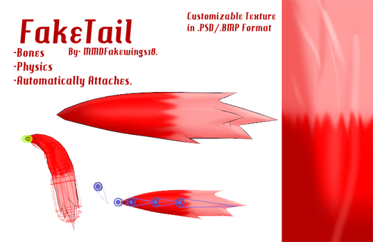 MMD- Fake Tail -DL by MMDFakewings18