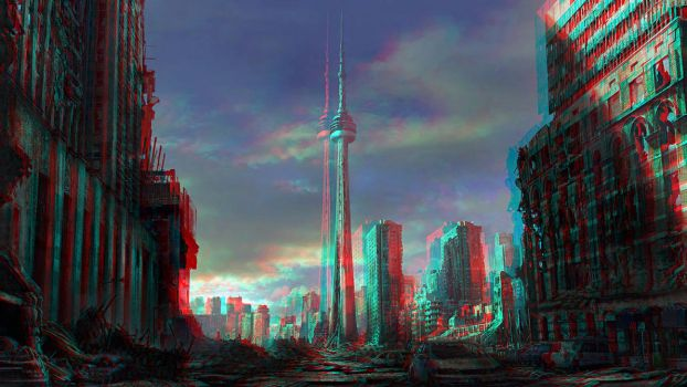 Toronto ruins by JonasDeRo Conversion 3D by Fan2Relief3D