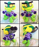 Commission: Small N.Oxide Plush Doll by Sarasaland-Dragon