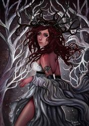 The Queen of the Unseelie Court by agnes-green