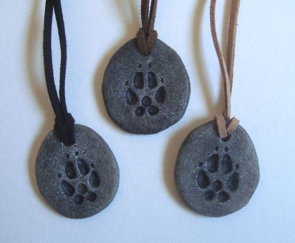 Wolf Pawprint Charms by Nightlyre