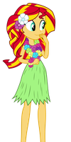 Hula Sunset Shimmer Puppet by MoHawgo