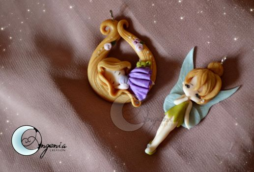 Tinkerbell and Rapunzel by AngeniaC