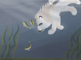 Sif Fishing 02 by magikwolf