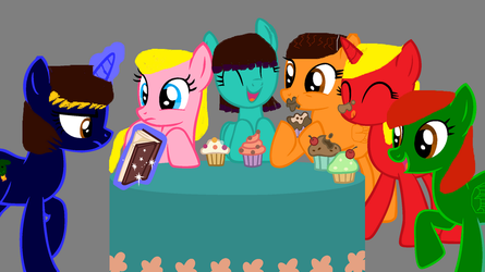 Happy new year from  my friends and I by mypony13