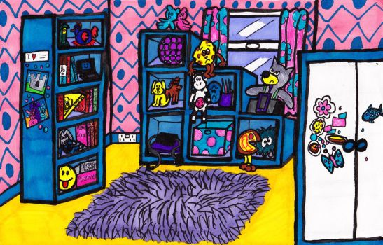 Candy and Floss's Bedroom Design by LaptopGeek92