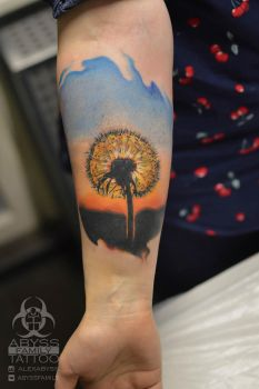 dandelion tattoo by ABYSS-TAT-2S