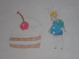 Fionna's Giant Cake by rabbidlover01