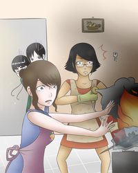 Cooking Fail (Konsu's OC contest's Entry) by shirayama
