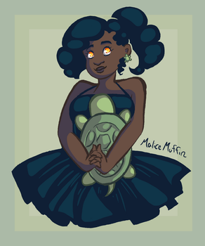 Turtle Girl by malicemuffin