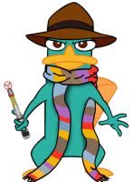 Doctor Who platypus - 4th by killddianette