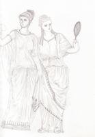 Noblewomen from Ancient Greece by Pencilivy