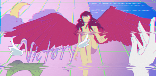 Nike in Vaporwave - Tumblr request by elpisofhope