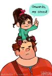 Vanellope and Ralph by Mad-Hattie