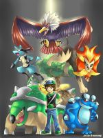 Commission : Pokemon team by R-nowong