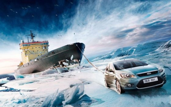 Ford Focus Pulling Ship Wallpaper by ROGUE-RATTLESNAKE