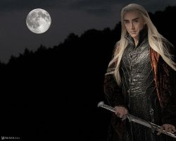 Thranduil in the Moonlight by Menkhar